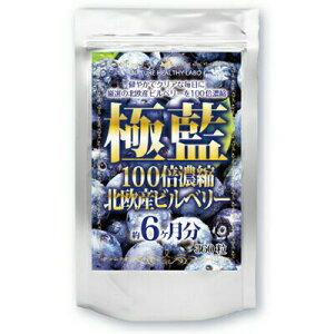 【即納】極藍100倍濃縮北欧産ビルベリー大容量 6ヵ月分 (プレゼント付♪)