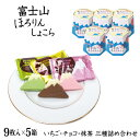 【送料無料】【富士山 お土産】富士山ほろりんしょこら9枚×5箱セット ほろりんショコラ 世界文化遺産 洋菓子 クッキ…