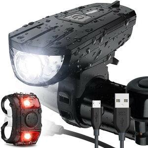 自転車 ライト USB充電式 LED ライト 防水 らい 光センサー モード 自転車用 ヘッドライト ヘルメット ロードバイク ライト フロント 小型 led スポーツ