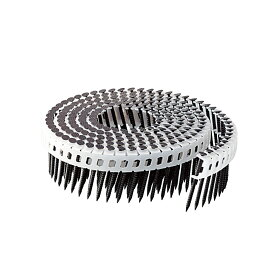 斜めプラ連結釘 ステンレス 焼杉板用 布目頭 1.83×38mm(200本×20巻)