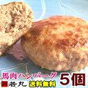 【おまけ付】【2500円ポッキリ 送料無料】ヘルシー馬肉ハンバーグ5個 送料無料 ダイエット中でも 【2セットで3個おま…