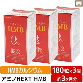 アミノネクストHMB 3個セット BCAA 筋肉 筋肉減少 バリン ロイシン イソロイシン イミダゾールペプチド プリテオグリカン オオイタドリ 軟骨 カルシウム ビタミン 中高年 運動 健康食品 スポーツ乳酸菌