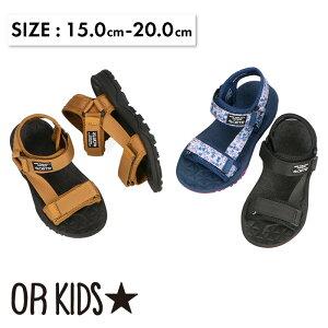 ベルクロスポーツサンダル《ORientalTRaffic KIDS》 オリエンタルトラフィック キッズ サンダル スポサン 歩きやすい