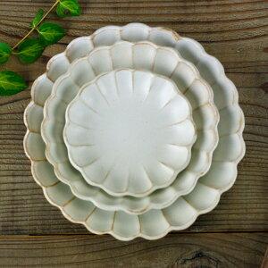益子焼kinari 輪花皿 ギフトセット (わかさま陶芸 リンカ皿 セット) 北欧 風 おしゃれ かわいい 名入れ 可(別料金) 和食器 お皿のセット (プレート セット)(食洗機・電子レンジ対応)ギフ