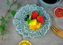 益子焼ガーデン フラワープレート グレー 花形 小皿 皿 デザインプレート 2000円以上で  取り分け皿 灰色 かわいい おしゃれ …