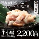 国産ホルモン小腸 400g もつ鍋(モツ鍋)追加具に最適