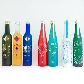[送料無料]WAKAZE7種飲み比べセット500ml×計7本 ~ワイン樽熟成日本酒ORBIA3種 + 和が薫るボタニカルSAKE FONIA2種 FONIA tea2種~ パーティ用