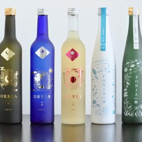 [送料無料]WAKAZE5種飲み比べセット~ ワイン樽熟成日本酒ORBIA3種 + 和が薫るボタニカルSAKE FONIA2種 500ml×計5本 クリスマス パーティ