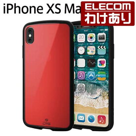 iPhone XS Max ケース 耐衝撃 TOUGH SLIM LITE クリアレッド:PM-A18DTSLCRD【税込3240円以上で送料無料】[訳あり][ELECOM:エレコムわけありショップ][直営]