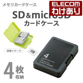 エレコム SD microSD メモリカード ケース マイクロ SD :CMC-SDCPPBK【税込3300円以上で送料無料】[訳あり][ELECOM:エレコムわけありショップ][直営]