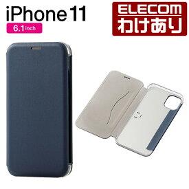 iPhone 11 用 ソフトレザーケース 薄型 三つ折り ケース カバー iphone6.1 iPhone11 アイフォン 11 新型 iPhone2019 6.1インチ 6.1 スマホケース ソフト レザー 3Dフラップ ソフトレザー ネイビー:PM-A19CPLFUKNV【税込3300円以上で送料無料】[訳あり][直営]
