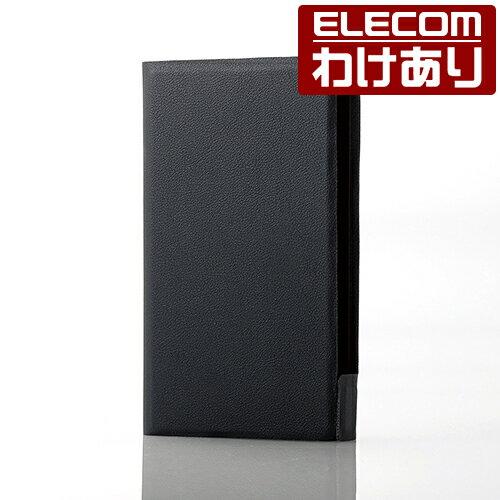 【訳あり】エレコム WALKMAN A40 ケース 手帳型 ソフトレザーカバー 薄型 ブラック AVS-A17PLFUBK
