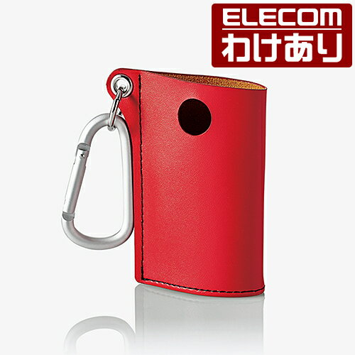【訳あり】エレコム glo グロー ケース カラビナ付きレザーカバー レッド ET-GLLC1RD