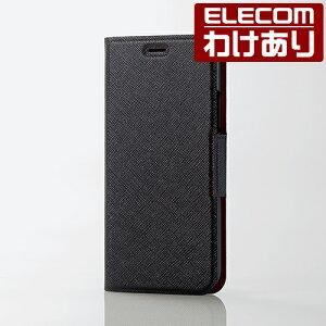 【訳あり】エレコムiPhoneXSiPhoneXケースUltraSlim手帳型イタリアンソフトレザーカバー薄型ブラックPM-A17XPLFUILBK