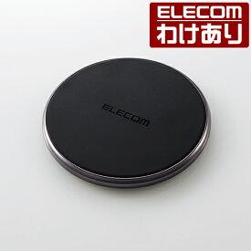 Qi規格 対応 ワイヤレス充電器 対応 最大出力10W スマホ 高速充電 薄型 卓上 ブラック:W-QA09XBK【税込3300円以上で送料無料】[訳あり][エレコムわけありショップ][直営]