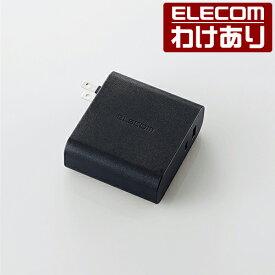 ノートPC 用 ACアダプター Power Delivery 準拠 USB Type-C ポート + USBポート AC充電器 アダプター パワーデリバリー 高速充電 PD45W+12W ブラック:ACDC-PD0257BK【税込3300円以上で送料無料】[訳あり][エレコムわけありショップ][直営]