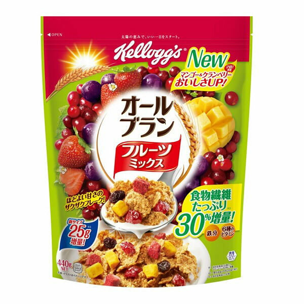 ケロッグ オールブランフルーツM徳用袋 440g 賞味期限2019.03.31