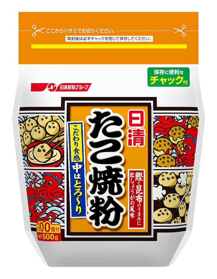 日清フーズ たこ焼き粉 500g 賞味期限2019.07.11以降