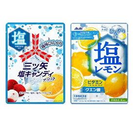 [送料無料][24個]アサヒ 塩レモンキャンディ&三ツ矢塩キャンディアソート 2種セット 賞味期限2021.05.31以降