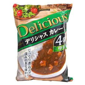 [12個]ハチ食品 デリシャスカレー170g×4袋 賞味期限2022.07.21以降