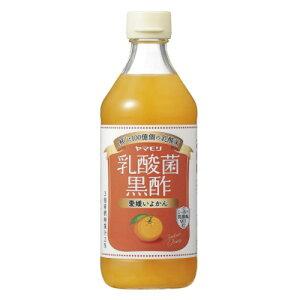 [6本]ヤマモリ 乳酸菌黒酢愛媛いよかん500ml 賞味期限2021.07.15以降