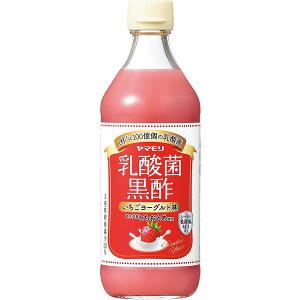 [6本]ヤマモリ 乳酸菌黒酢いちごヨーグルト味500ml 賞味期限2021.04.30