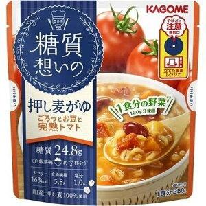 【最大300円OFFクーポン有】[10個]糖質想いの 押し麦がゆ ごろっとお豆と完熟トマト 250g 賞味期限2020.04.04
