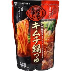[送料無料][12個]ミツカン 〆まで美味しいキムチ鍋つゆ ストレートタイプ 750g 賞味期限2021.10.16以降