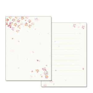 和詩倶楽部 ふたこと箋 桜吹雪(便箋9枚+封筒3枚セット) (LS-005)