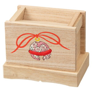 賽銭箱型の貯金箱 (045) 木目込細工 桐製 箱長の桐工芸品 Piggy bank of Paulownia, Hakocho