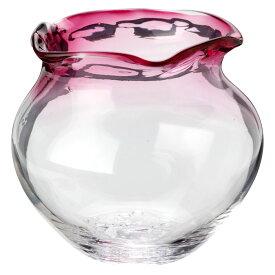 吹きガラスの金魚鉢 小(赤) 滋賀県の吹きガラス工房より Glass goldfish bowl, Shiga craft