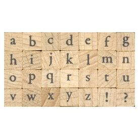 プチ文字スタンプセット小 Garamond小文字 (1228-002) こどものかお Petit character stamp set