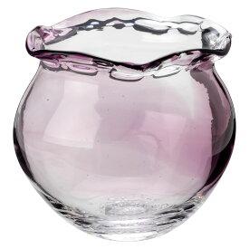 吹きガラスの金魚鉢 小(紫) 滋賀県の吹きガラス工房より Glass goldfish bowl, Shiga craft