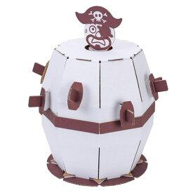 ダンボール工作キット 飛び出せ海賊くん のりもはさみも使わずに組み立てられるペーパークラフト Cardboard craft kit