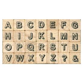 プチ文字スタンプセット小 影文字大文字 (1228-008) こどものかお Petit character stamp set