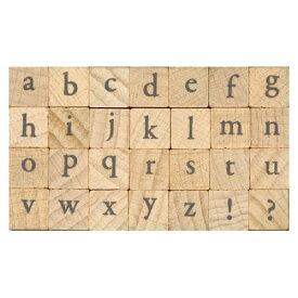 プチ文字スタンプセット大 Garamond小文字 (1234-004) こどものかお Petit character stamp set