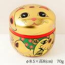 招き猫の小物・アクセサリー入れ 茶筒 Accessory case of Lucky cat, Tea canister