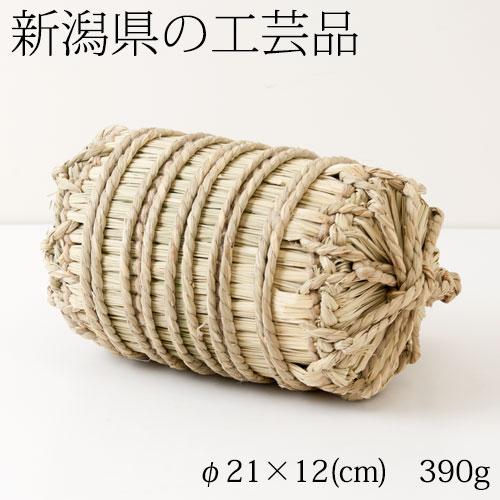 米俵の置き飾り 五穀豊穣を表す縁起物 新潟県の工芸品 Ornament of straw rice bag, Niigata craft