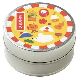 お年賀あめ 子 縁起づくし・はつにしき お正月缶飴 40g入り スーベニール(賞味期限:2020年9月) Japanese candy