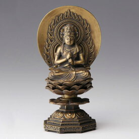 仏像・八体仏 高岡鋳物 大日如来 15cm (BZ-006) 未・申年生まれのお守本尊 インテリア鋳造仏 Casting Buddha statue Takaoka imono Dainichi nyorai