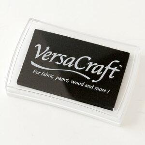 スタンプ用インク バーサクラフト(VersaCraft) リアルブラック (19942-182) 布用・顔料系水性インク こどものかお Stamp ink