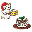 ポタリングキャットピンズコレクションクリスマスケーキ(XS-01)