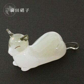 Hirota glass elegant cat chopstick rest
