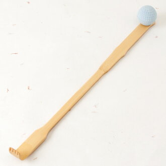 有竹製造搔癢棒按摩球的Bamboo scratcher with massage ball