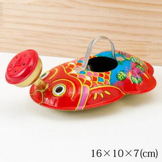 초 그리운 양철 장난감 금붕어 급수 모래통 놀이