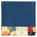 百道発信 華神楽 11cmコースター ブルー (IKI-1480) 福岡県の布製品 Fabric coaster, Fukuoka craft