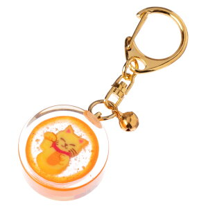 nanaco plus+ 飴のキーホルダー 縁起飴 招き猫(金運) ナナコプラス Candy key ring