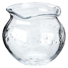 吹きガラスの金魚鉢 大(クリア) 滋賀県の吹きガラス工房より Glass goldfish bowl, Shiga craft