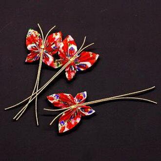 裝飾 mizuhiki MIZUHIKI 蝴蝶 3 件