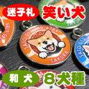 迷子札(笑い犬) 送料無料 秋田犬 甲斐犬 紀州犬 四国犬 北海道犬 狆 日本スピッツ 柴犬 グッズ 雑貨